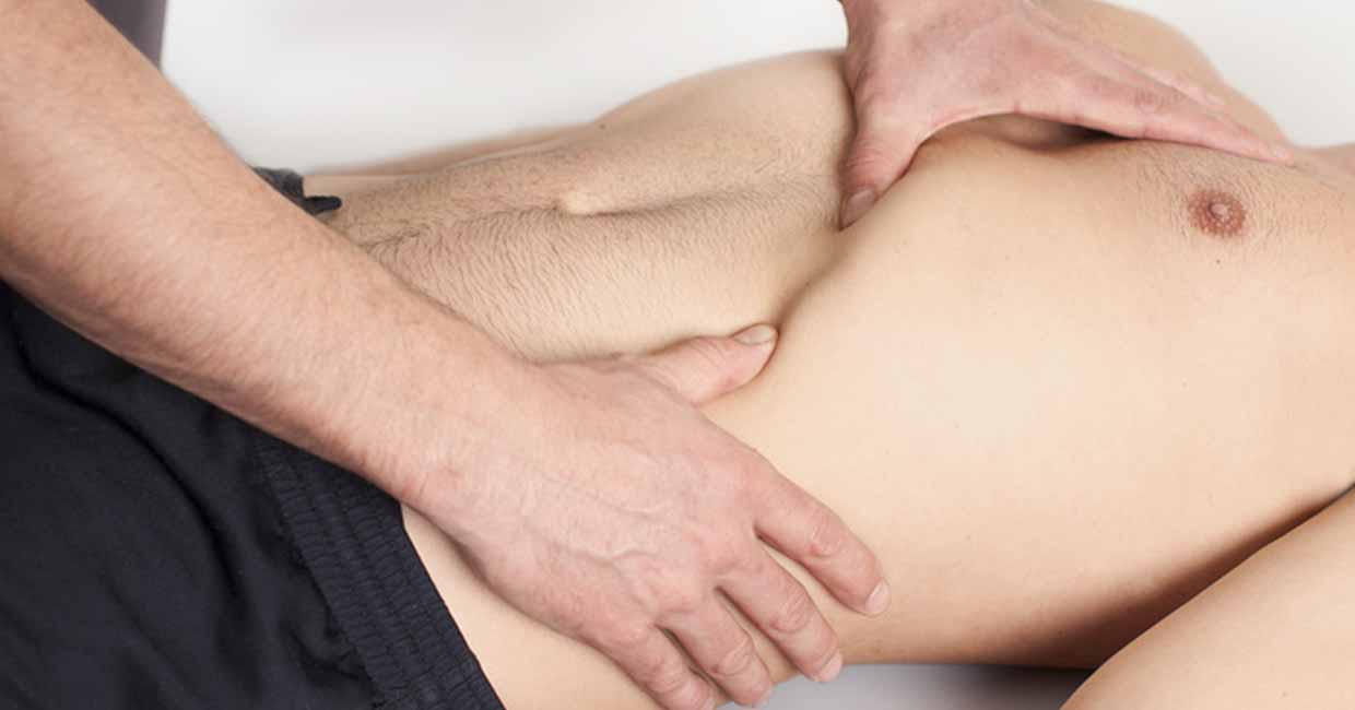 thera physio Behandlung Bauch